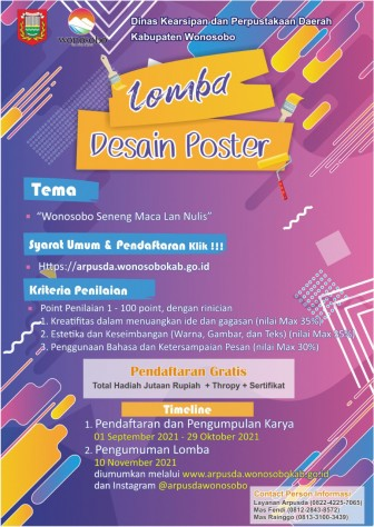 Lomba Desain Poster Arpusda Fest 2021